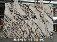 Calacatta Viola Marble Slab for Flooring Tiles