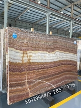 Fantasia Rosso Onyx Slab for Project