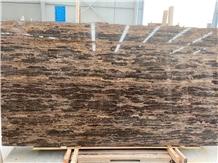 King Gold Brown Marble Slab for Flooring Tiles