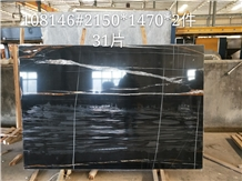 Laurent Black Marble for Wall Cladding
