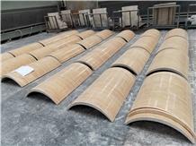 Light Beige Travetine for Natural Stone Columns