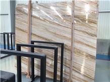Lightning Gold Marble Slab for Flooring Tiles