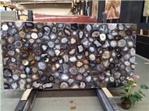Multicolor Semiprecious Stone for Tabletops