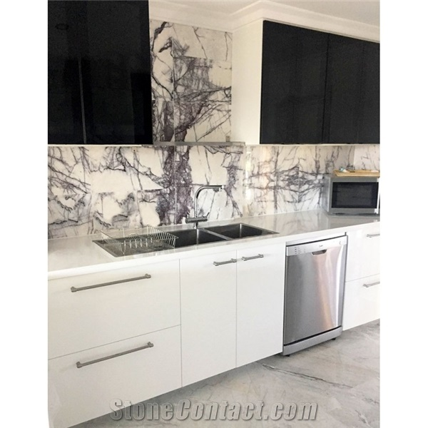 new york carrara white marble for kitchen floor from china