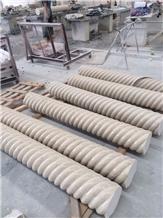 Ottoman Beige Marble Natural Stone Columns