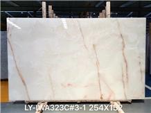 Spider White Onyx Slab for Floor Tiles