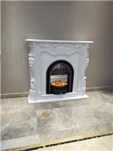 Stone Fireplace Sculptured Fireplace