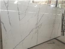 White Artificial Quartz Stone for Countertop