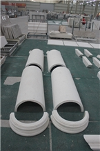 White Limestone Natural Stone Columns