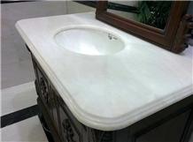 White Rhino Marble Vanity Top
