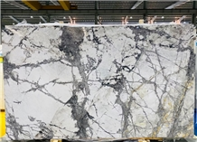Winter River Snow Marble Slab for House Decoration