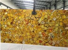 Yellow Semiprecious Stone for Coffee Tabletop