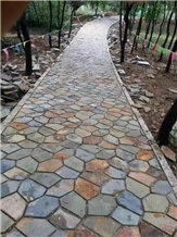Yixian Multicolor Slate Flogstone Walkway Pavers