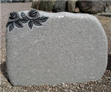 Karin Grey Granite Rose Engraved Headstone