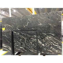 Cometic Black Quartzite Slabs Tiles