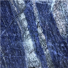 Funcy Sapphire Blue Quartzite Slabs Flooring Tiles