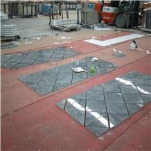 Hermes Dark Grey Design Polished Marble Tiles