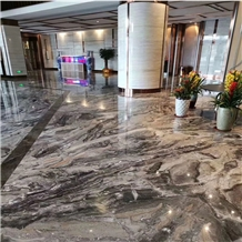 Italian Venice Brown Marble Slabs Tiles Project