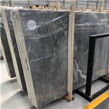 Lafite White Grey Marble Slab for Villa Project