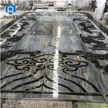 Lobby Waterjet Medallion Marble Flooting Design