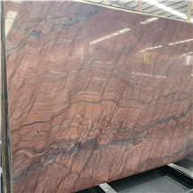 Luxury Red Waves Marble Slab for Background Wall