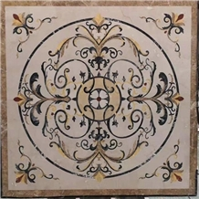 Marble Medallion Waterjet Pattern Tiles for Floor