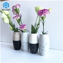 Modern Design Carrara Marble Stone Flower Vase