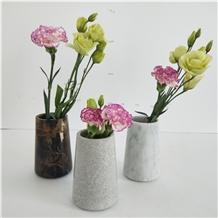 Morden Design Marble Craft Small Flower Vase