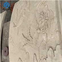 Natural Stone 3d Cnc Carving Marble for Home Decor