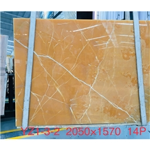 Natural Yellow Onyx Marble Slab for Interior Wall