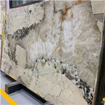 Pandora White Granite Slabs