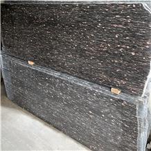 Ponegranate Red Spot Black Background Granite