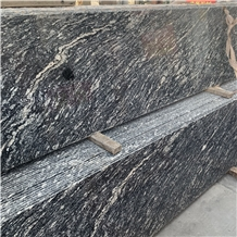 Sky Black Granite Slab for Kitchen Island Design