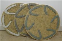 Cement Boomerang Floor Polishing Pads