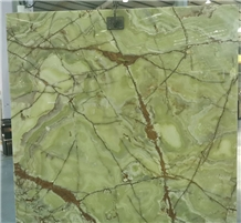 Building Material Natural Luxury Green Onyx Slabs