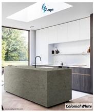 Colonial White Granite Kitchen Countertop