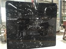 Black Ice Flower Marble Floor Wall Slabs Tiles