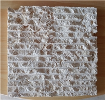 Scratched Classic and White Dominican Coral Stone Wall Tiles