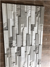 White / Grey Marble Cultured Stone