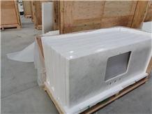 White Marble Countertop Bathroom