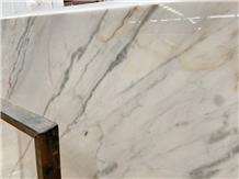 New Oro Calacatta White Marble Slab for Floor Tile