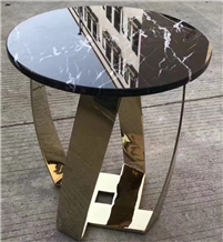 Round Top Coffe Side Table Marble