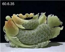 Iran Green Onyx Polished Carved Handicraft Giffs