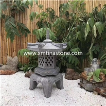 Stone Lantern Sculpture Granite Garden Lamp Statue