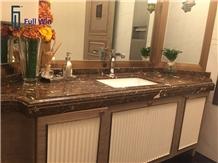 Brown Color Bathroom Vanity Tops