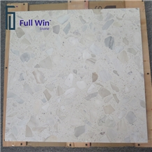 White Artificial Stone Honeycomb Panel Tile