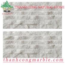 Crystal White Chiseled Walling Ledge Stone
