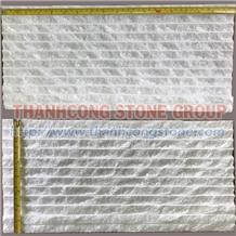 Crystal White Stone Chiseled Wall Cladding Tile
