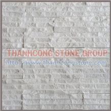 Vein White Chiseled Stone Tiles