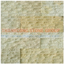 Yellow Marble Chiseled Wall Cladding Panel Tiles